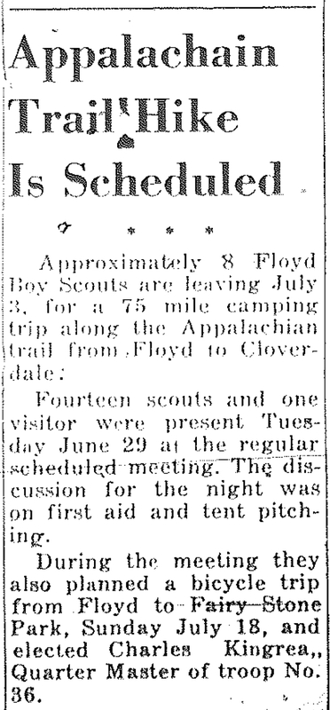 Appalachian Trail Hike Is Scheduled (1948)